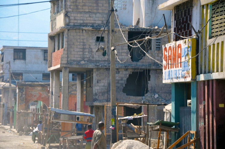 Much of downtown Port au Prince was destroyed in the Haitian earthquake.