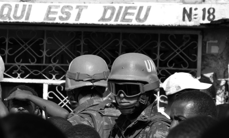 UN peacekeepers in Cite Soleil, Haiti