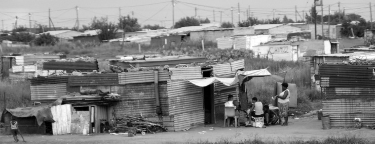 An informal settlement in central South Africa