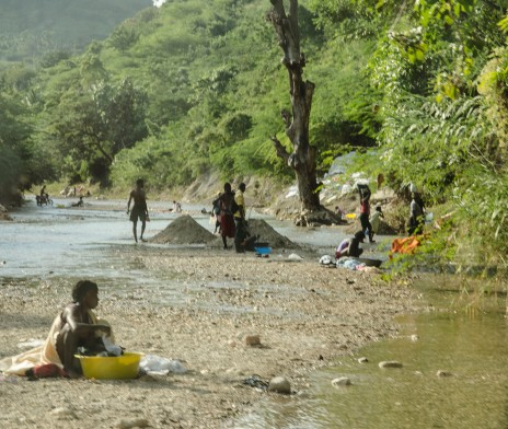 Cholera spread quickly in Haiti, mostly due to much of the country relying on sub-standard water resources.