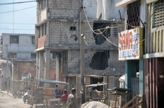 Earthquake damage, downtown Port au Prince, Haiti.
