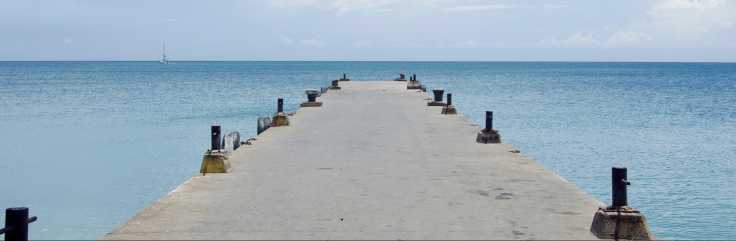 The main pier in Utila, Honduras.