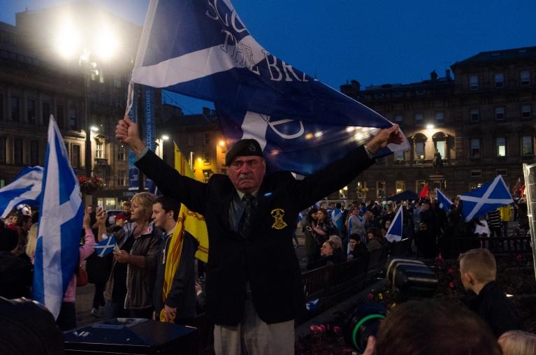 A Scottish veteran in George Square, Glasgow.