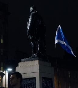 Referendum night, George Square, Glasgow.