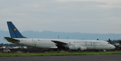 Goma's airport runway is littered with crashed aircraft. Congolese airlines have the worst safety in the world.