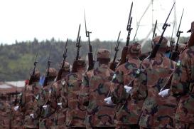 Rwandan soldiers in North Kivu.