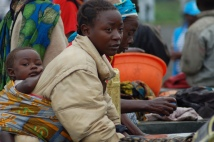 Refugees fled the conflict in the DRC in to neighbouring Uganda.