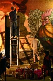 Graffiti artists, Montreal.