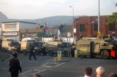 Ardoyne, Belfast, Northern Ireland on the 12th of July.